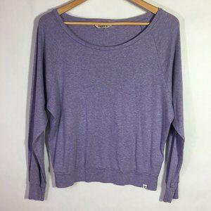 Aritzia TNA Purple Basic Scoop Neck Sweater